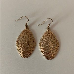 Gold Colored Statement Earrings